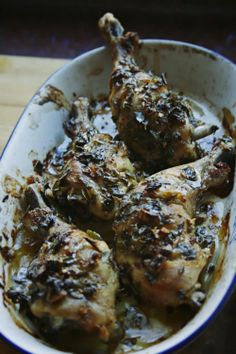 chicken with lemon, thyme and garlic