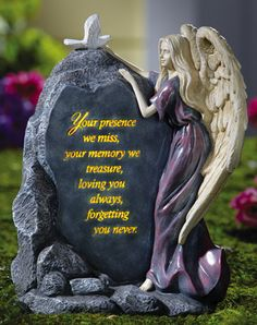 Precious Angel Lighted Memorial Garden Stone