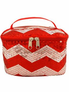 Red Sequined Chevron Case