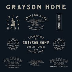 Grayson Home #Logo #Variations #Type