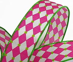 Pink  White Harlequin Ribbon 9 50 Yard Spools ** Check out the image by visiting the link.