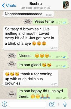 """Yo Customers Speak! Two of the comments we love, love, LOVE to hear from our customers is """"melted in my mouth"""" and """"over in the blink of an eye"""". That's exactly what one of our nearest and dearest customers, Bushra, had to say about Yo! Brownies. Thanks, Bushra! Keep coming back for more. Call us to order +91-98218-90624  #yobrownies #loveyobrownies #brownies #dessert #foodgasm #foodies #foodlove #delicious #yummy #chocolate #walnuts #foodforthought #brownielove #customer_review…"""