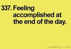 best feeling.