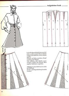 Skirt Patterns Sewing, Blouse Patterns, Clothing Patterns, Knitted Baby Cardigan, Pants Pattern, A Line Skirt Pattern, Pattern Drafting, Fashion Sewing, Pattern Books