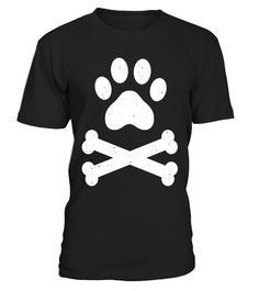 Skull Crossbones Shirt Paw Print Dog Lover Dog Dad Dog Mom
