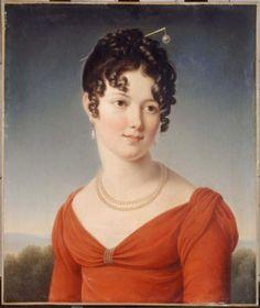 Ca 1810. Portrait of Alexandrine-Anne de la Pallu, marquise de Flers (1786-1832). Painted by François Pascal Simon, Baron Gérard. Musée Carnavalet, Histoire de Paris.