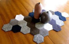 Carpet made out of felt hexagons - Apartment Therapy