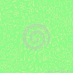 Abstract florals doodles with seamles repeat pattern design royalty free stock image