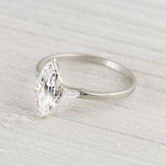 Image of 1.23 Carat Marquise Cut Vintage Engagement Ring LOVE this vintage jewelry website: Erstwhile Jewelry