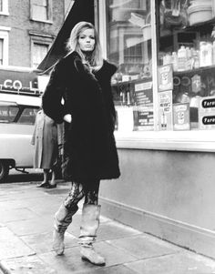 """Veruschka von Lehndorff's street style looks as modern today as it did in 1966. From the film """"Blow-Up."""""""