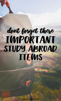 Don't forget to pack these ten travel essentials if you are studying abroad or traveling! This is a list of the top items for study abroad!