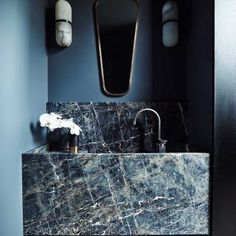 "A Heated Internal Debate - Are There Some Tiles That Are More ""Bathroom"" Than ""Kitchen"" And Are There Rules? - Emily Henderson Mexican Interior Design, Beautiful Interior Design, Spanish Style Bathrooms, Modern Sink, Modern Wall, Bathroom Styling, Beautiful Bathrooms, Small Bathroom, Home Remodeling"