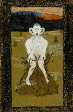 """Frost"" by Hugo Gerhard Simberg June 1873 - 12 July was a Finnish symbolist painter and graphic artist. Art Database, Dark Art, Art Lessons, Art Museum, Fantasy Art, Draco, Contemporary Art, Illustration Art, Illustrations"