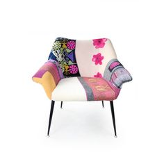 Fauteuil design de patchwork uniques Vintage par lasilladesign