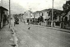 vila-madalena SP  Bonde na Fradique Coutinho, nos anos 1950.