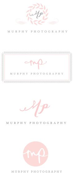 I like the idea of the initials being more creative or ethereal, but the type of the full name being clear and classic.