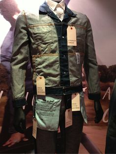 "LEVI'S, South-Africa, ""Dressing the mannequin inside out, innovations were highlighted with tickets pinpointing all the innovations and benefits, cost efficient and highly effective"", pinned by Ton van der Veer"