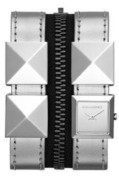 Karl Lagerfeld Damen Armbanduhr KL2008 silber Set aus Uhr und Armband