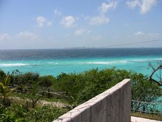 Cancun, as seen from Isla Mejures, Mexico. (if you have the chance, take the ferry over to the island and stay - it's much less 'touristy' and way way better!)
