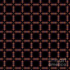 Red and yellow repeating mandala pattern by Tracey Lee Art Designs Mandala Pattern, Black Backgrounds, Fine Art America, Digital Art, Art Designs, Wall Art, Yellow, Artwork, Red