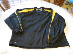 Holloway Athletic XL adult water wind resistant pullover shirt top black yellow #HollowayAthletic
