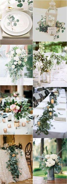 Wedding Quotes : Eucalyptus green wedding color ideas / www.deerpearlflow