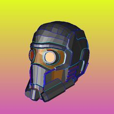 Starlord Helmet Foam - It's Free! : Pepakura Library, The worlds largest repository of Pepakura Files