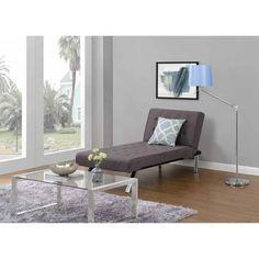 Emily Futon Chaise Lounger, Gray Linen - Walmart.com