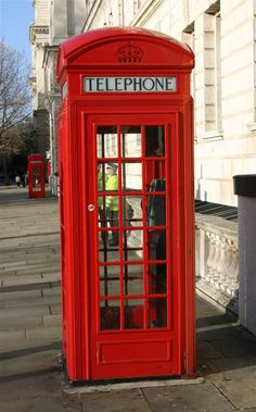 Red Pay Telephone Booth