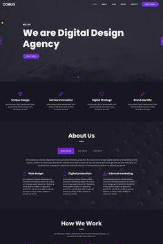 Cobus - Creative Landing Page Template Website Design Inspiration, Best Website Design, Landing Page Inspiration, Design Websites, Web Design Examples, Website Layout, Web Layout, Website Web, Website Ideas