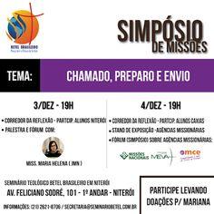 Veredas Missionárias: Simpósio de Missões no Seminário Betel em Niterói ...