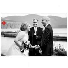These two shared so many great moment during the ceremony and were having a great time the entire day. #Documentary #ElkinsResort #Fall #Idaho #IdahoPhotographer #IdahoWeddingPhotographer #Outdoors #PriestLake #Water #Wedding #Bride #Groom #Ceremony #Laughter #Moment #BlackAndWhite #lifeintheMcLane