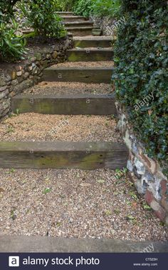 sloped yars with pea gravel walk - Google Search