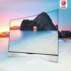 LG curved television TV