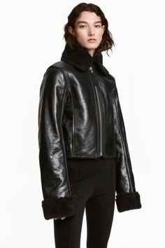 Leather biker jacket - Black - Ladies  80084d884