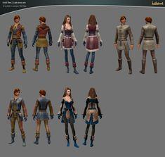 Guild Wars 2 Light Armor Sets by ~haikai13 on deviantART