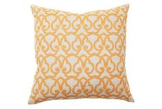 London 22x22 Cotton Pillow, Gold