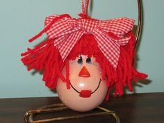 raggedy ann light bulb - Penryk Hand painted Crafts and Collectables