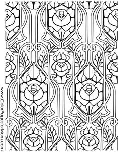 73 best Stained Glass Coloring Pages for Adults images on Pinterest ...