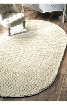 $5 Off when you share! Rugs USA Textures Handmade Wool Cable White Rug