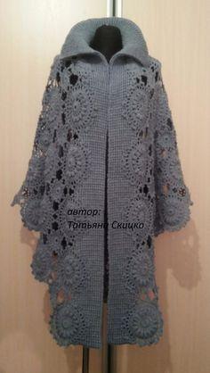 Ideas For Crochet Shawl Poncho Infinity Scarfs Col Crochet, Crochet Jacket Pattern, Gilet Crochet, Crochet Poncho Patterns, Crochet Coat, Crochet Cardigan, Knitted Shawls, Crochet Shawl, Crochet Clothes