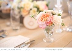 Table flowers | Photo: Catherine Mac Photography