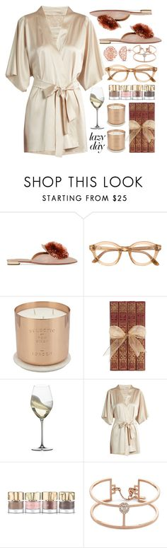 """Lazy day"" by puljarevic ❤ liked on Polyvore featuring Aquazzura, Tom Ford, Tom Dixon, Riedel, Fleur of England, Smith & Cult, Messika and LazyDay"