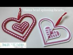 Jennifer's Little World blog - Parenting, craft and travel: Hama bead hanging heart decoration for Valentine's Day