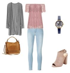 """""""Untitled #116"""" by gtippman on Polyvore featuring Frame, Zizzi, Olivia Burton, Schutz and Urban Expressions"""