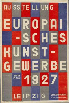 Herbert Bayer. Ausstellung Europaisches Kunstgewerbe. 1927