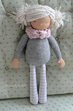 "Image of Reese 14"" Waldorf Inspired Rag Doll"