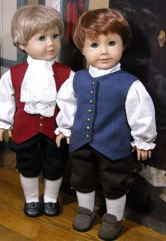 "Colonial Boy's Outfits for 18"" dolls by SugarloafDollClothes on Etsy $120.00"
