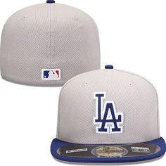 Los Angeles Dodgers New Era MLB Diamond Tech 5950 Fitted Hat (Gray)