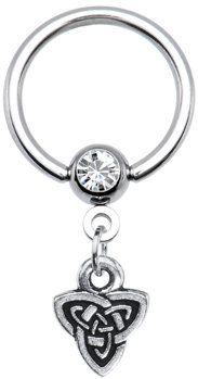 #Body Candy               #ring                     #Gauge #Celtic #Triad #Dangle #Captive #Ring #Body #Candy #Body #Jewelry      14 Gauge Celtic Triad Dangle Captive Ring | Body Candy Body Jewelry                                     http://www.seapai.com/product.aspx?PID=1195952
